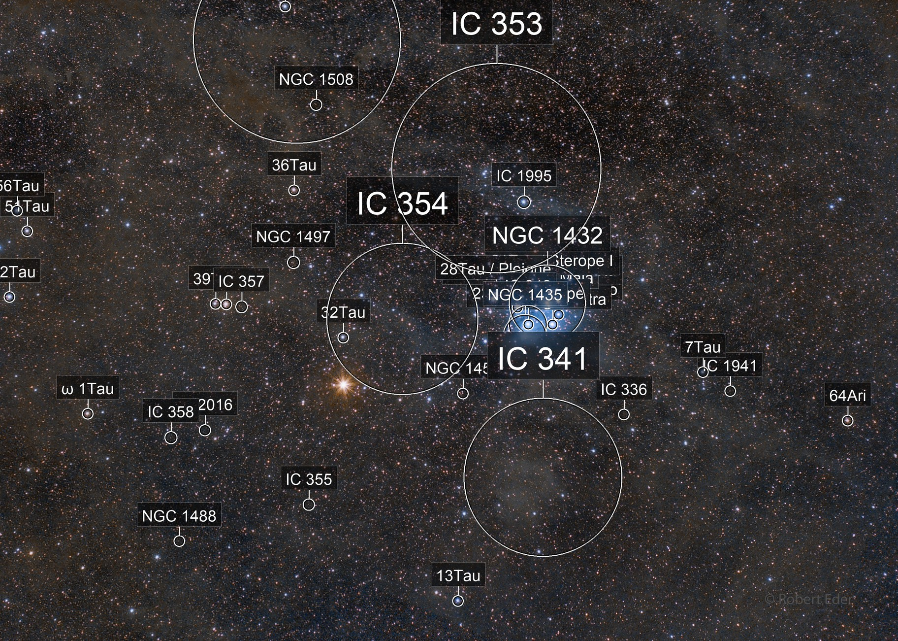 Mars visits Pleiades