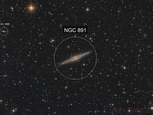 NGC891 - 130PDS and 200P