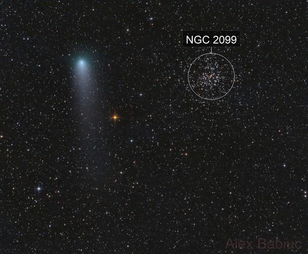 Comet 21P/Giacobini–Zinner meets M37 at perihelion
