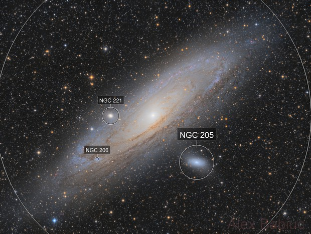 Andromeda - with the Esprit 80 and the 130PDS