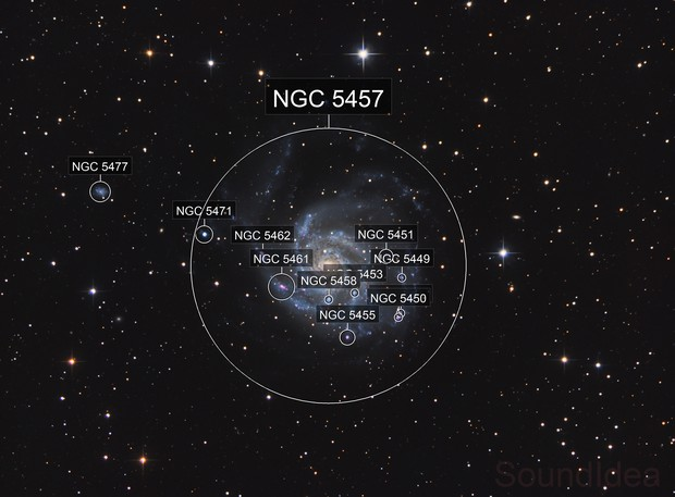 Messier 101, NGC 5457 - The Pinwheel Galaxy in HaRGB