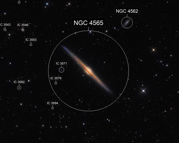 NGC4565: Galaxy on Edge