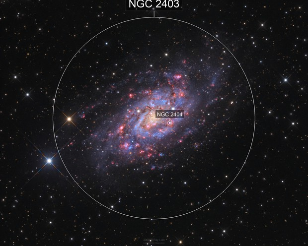 NGC2403 (little M33) in HaLRGB 33 hours