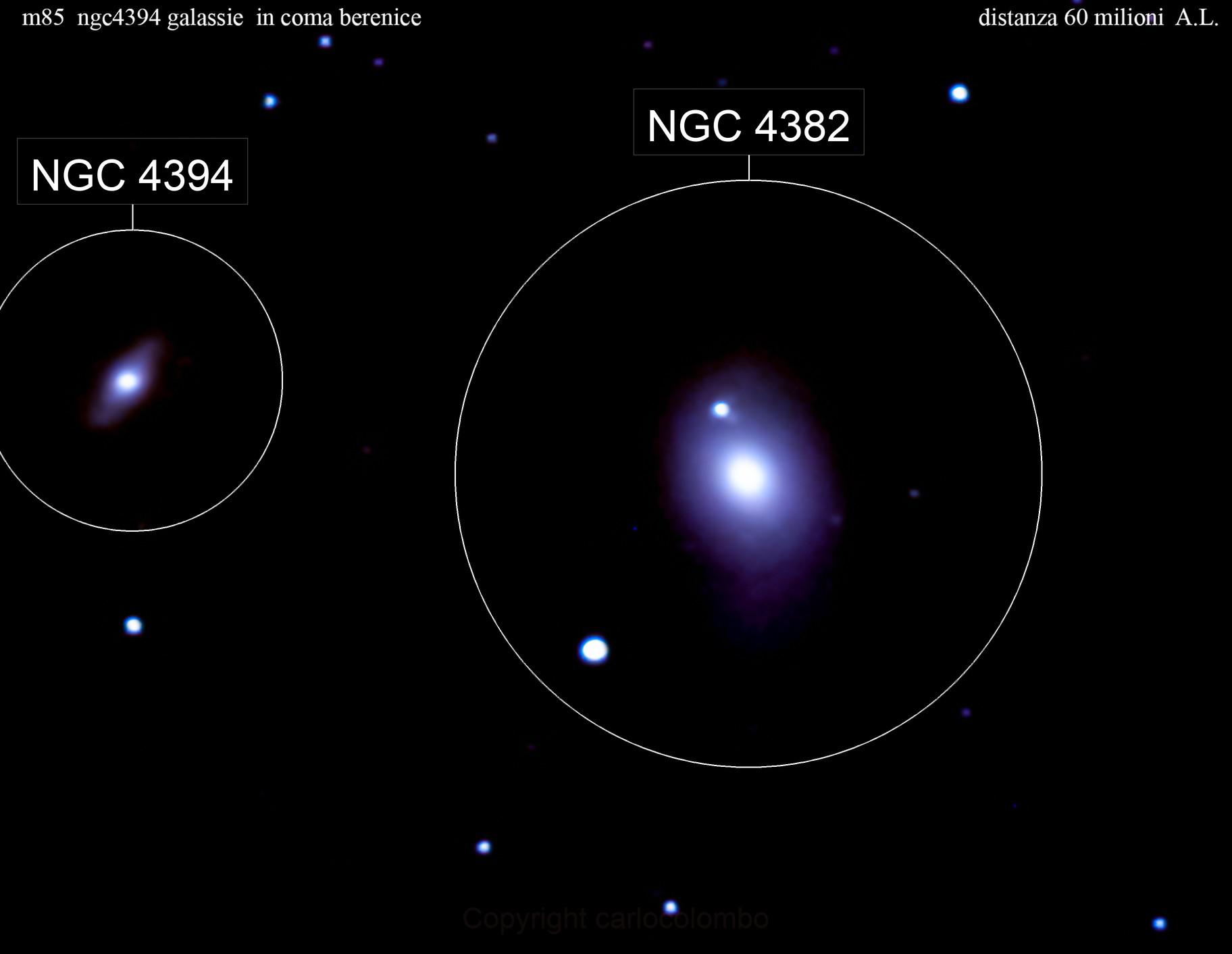 m 85  galassia    nella vergine                                                distanza 60 milioni  A.L: