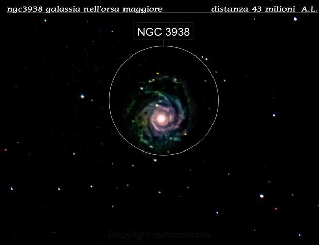 ngc3938 galassia nell'orsa maggiore                                 distanza 50 milioni  A.L.