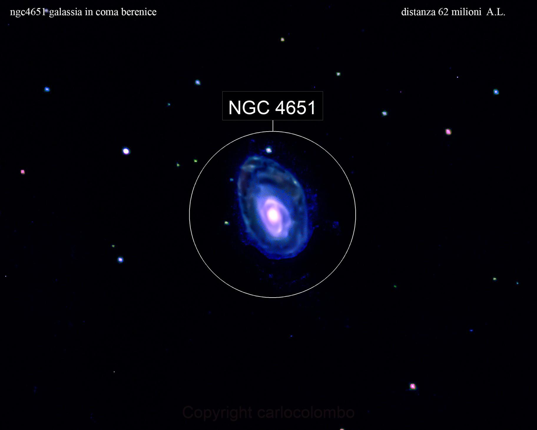 ngc4651 galassia in coma berenice                                   distanza  62 milioni   A.L.