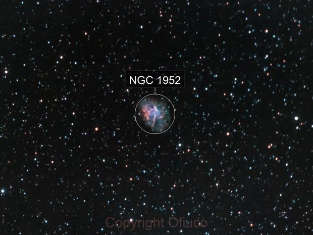 M1 The Crab Nebula (RGB+H-alpha OIII)