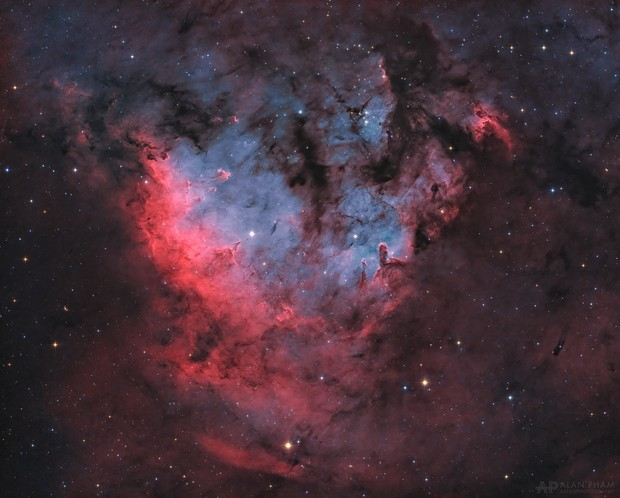 """Sh2-171 - NGC 7822 in """"Natural"""" Palette"""