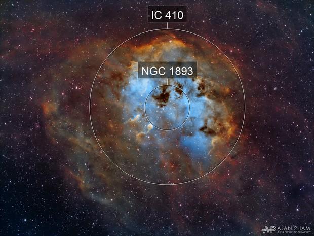 IC 410 - The Tadpoles Nebula