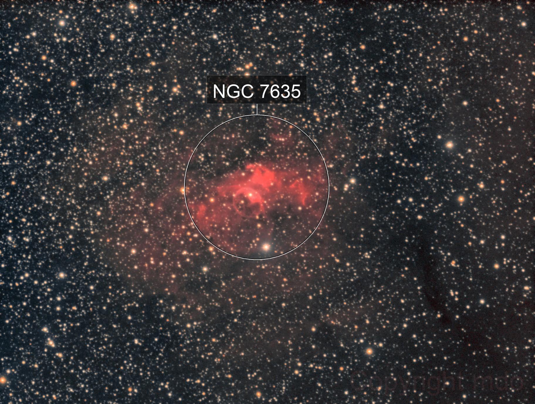 NGC 7635, Bubble Nebel