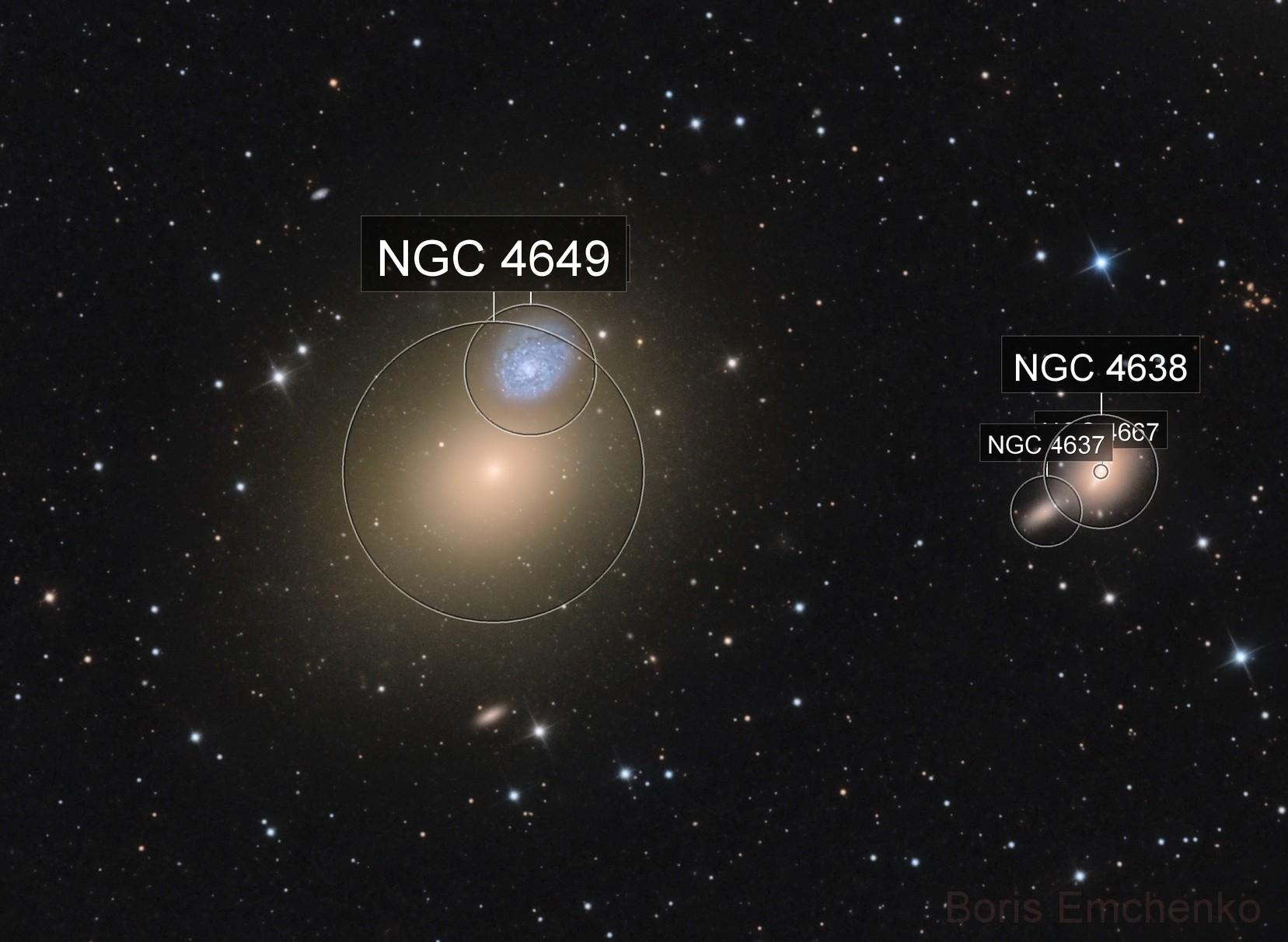 Arp 116 (M60-NGC4647) and M60-UCD1 Close Up