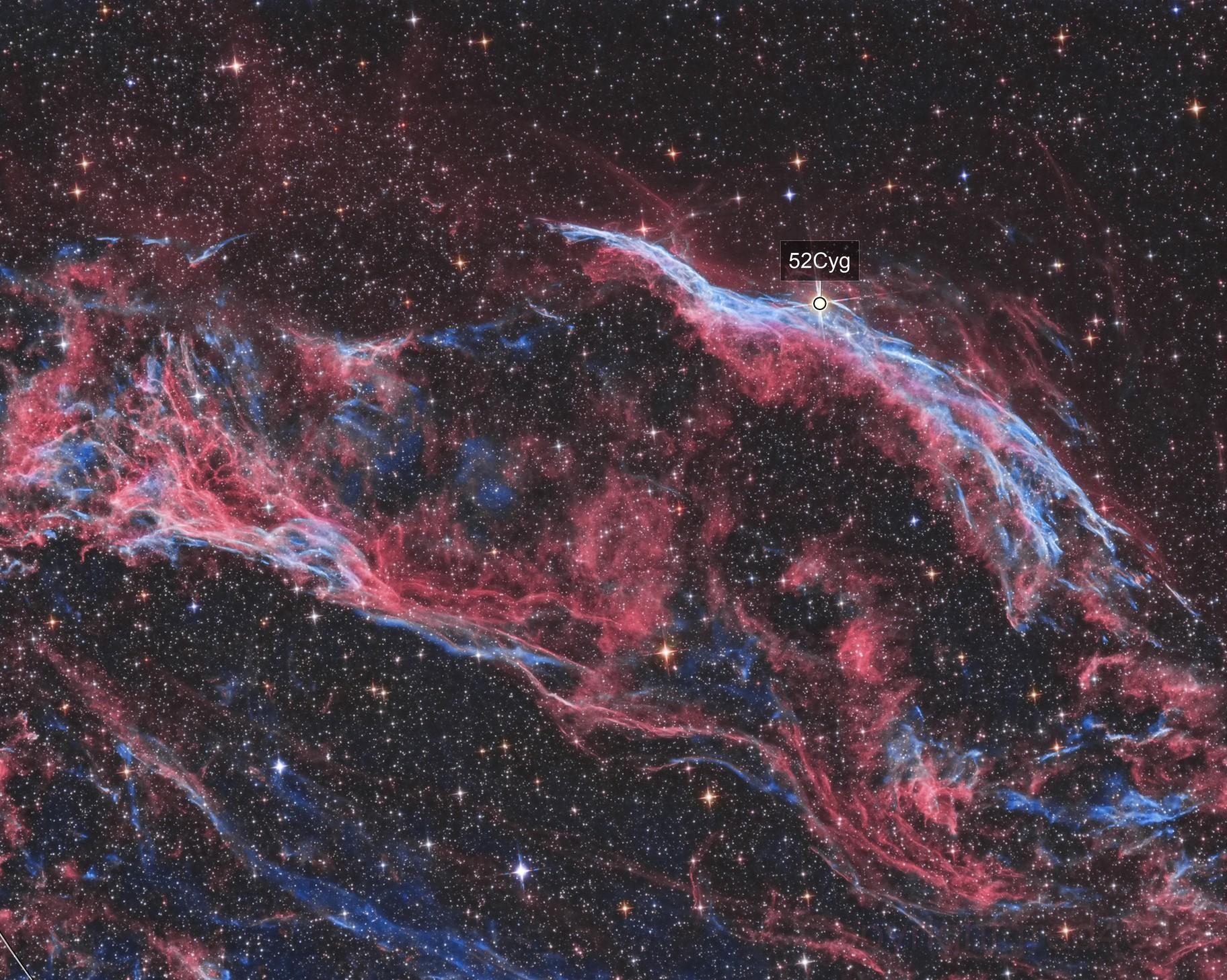 NGC 6960 HOO process