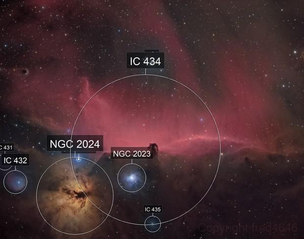 IC434 horsehead nebula HA-RGB