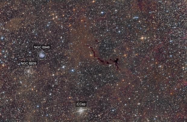 Barnard 150 , NGC6946  , NGC6939