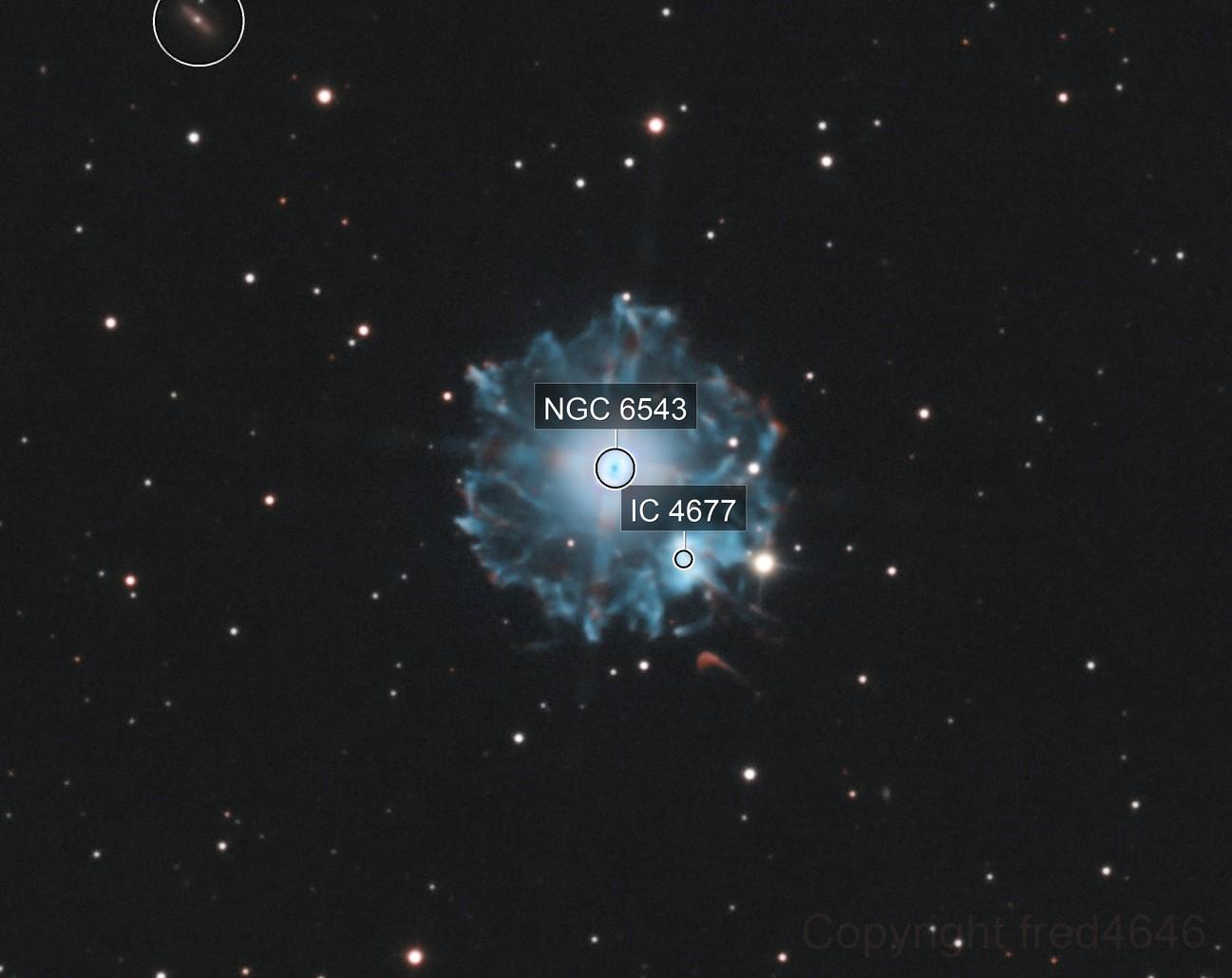 NGC6543 La nébuleuse de l'Œil de Chat
