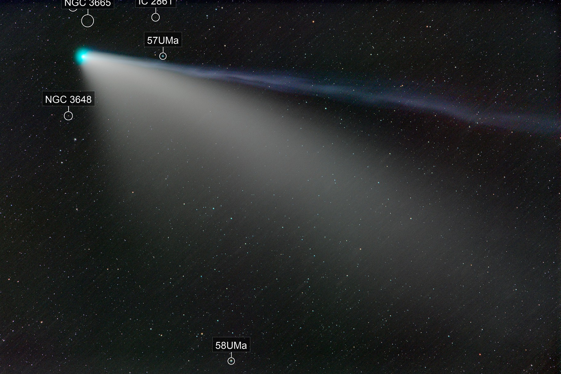 July 25 comet NEOWISE, a fading bloom