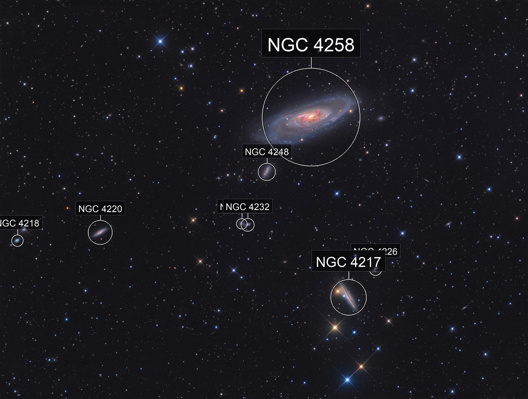 Messier 106 'complete'