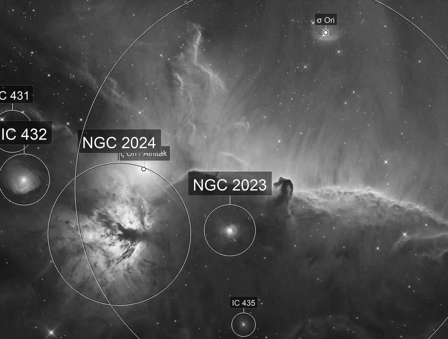 The Horsehead nebula, Barnard 33