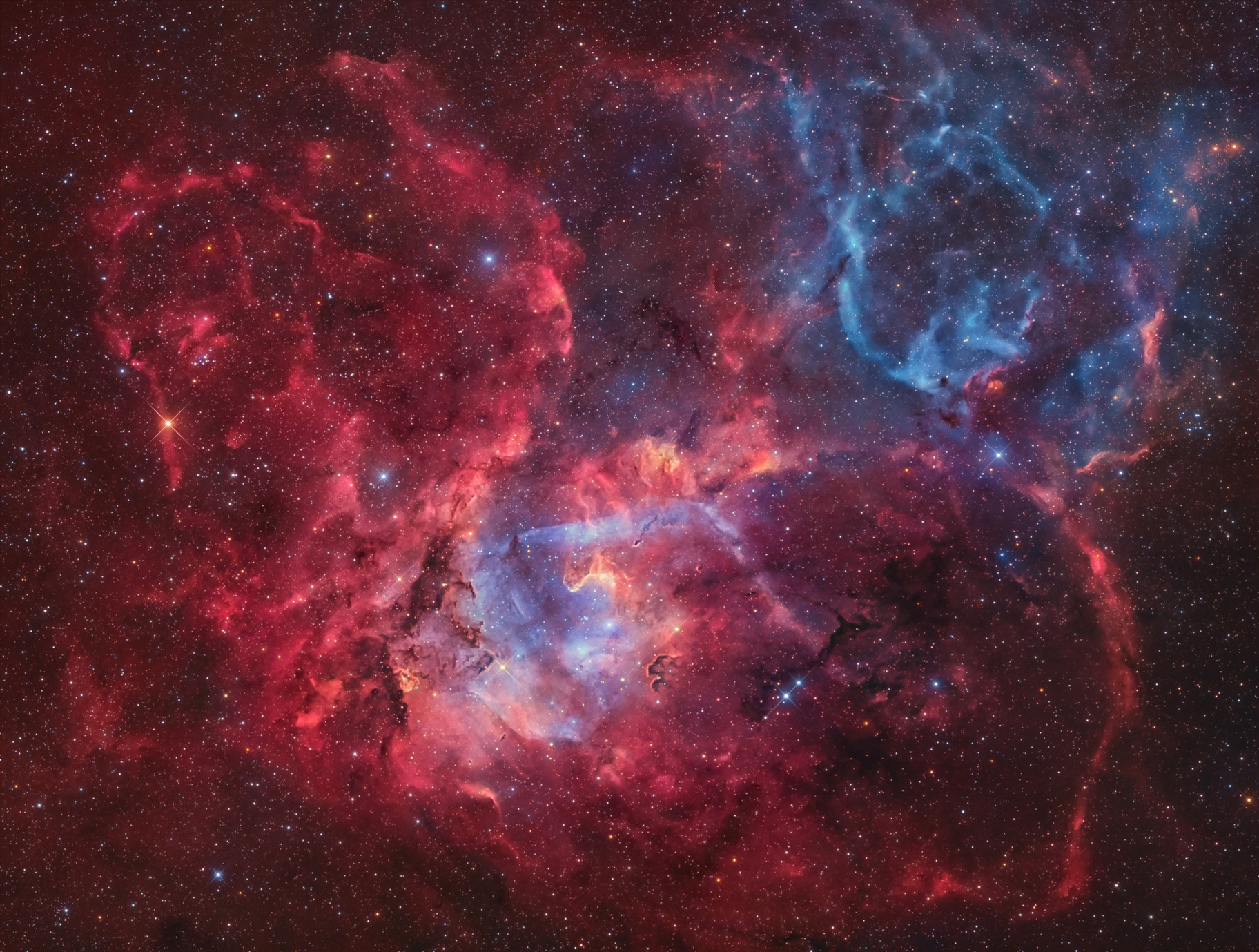 Sh2-132 · Lion Nebula in Cepheus