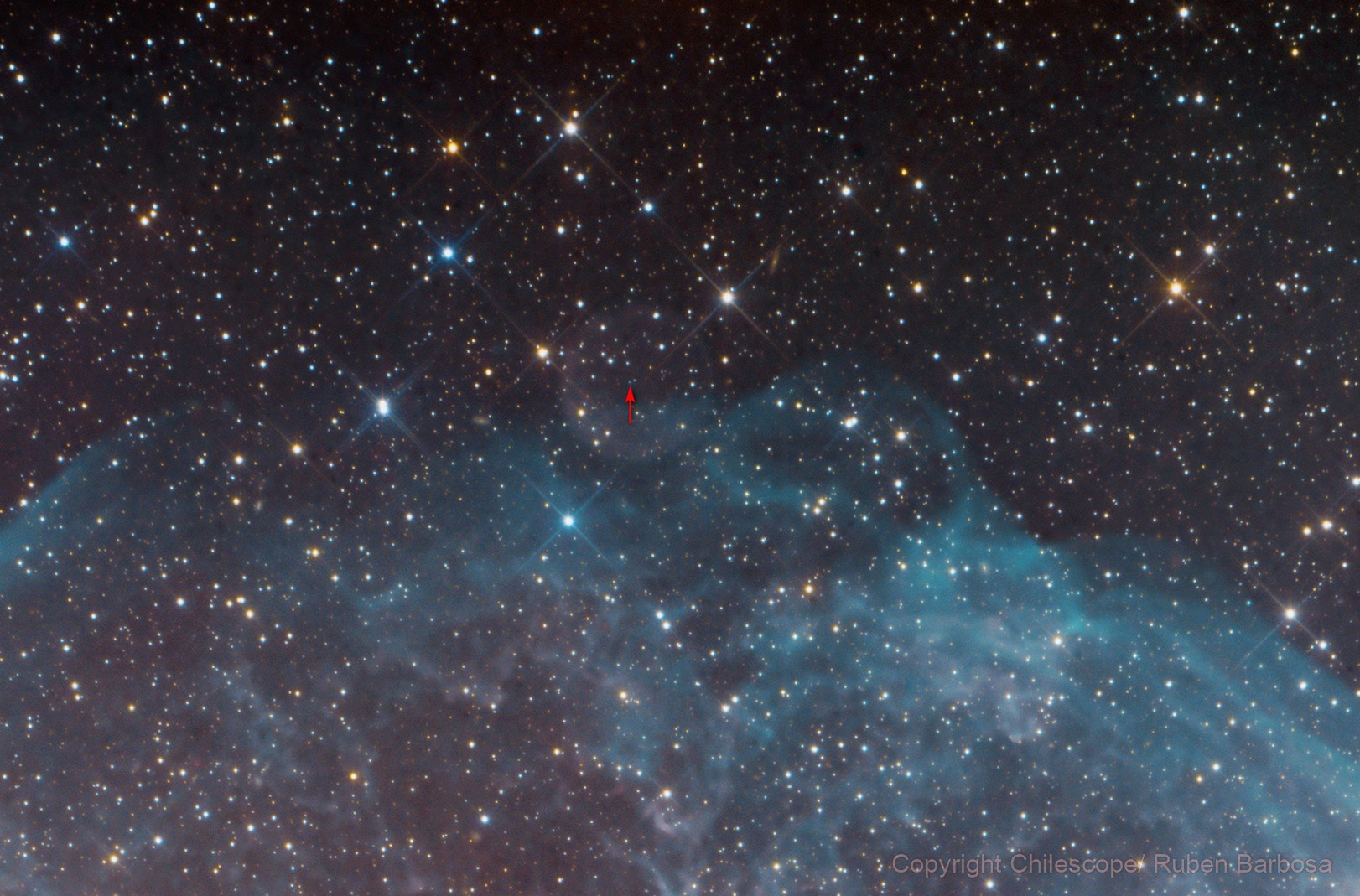 PN G234.9-09.7,  a tiny nebula almost never seen at Sharpless 308