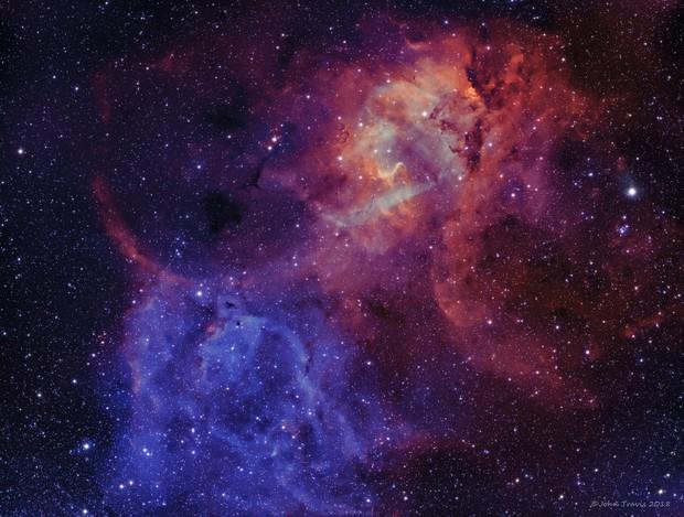 Sh2-132 Lion Nebula Bi-color