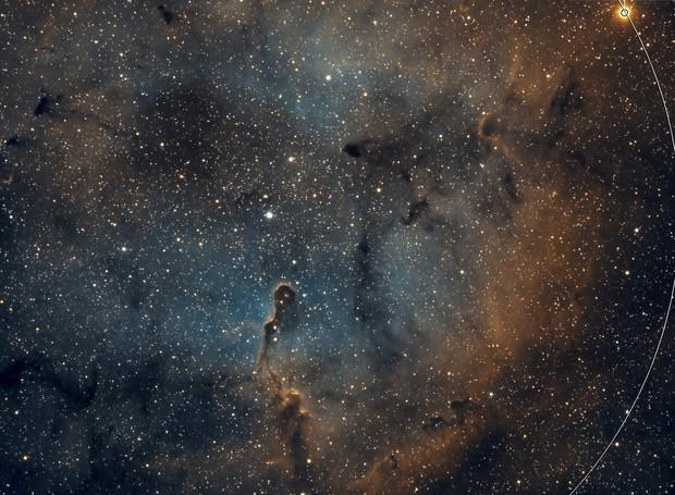 IC 1396 Elephant Trunk Nebula - Esprit 80 - ASI1600MM Wide Field