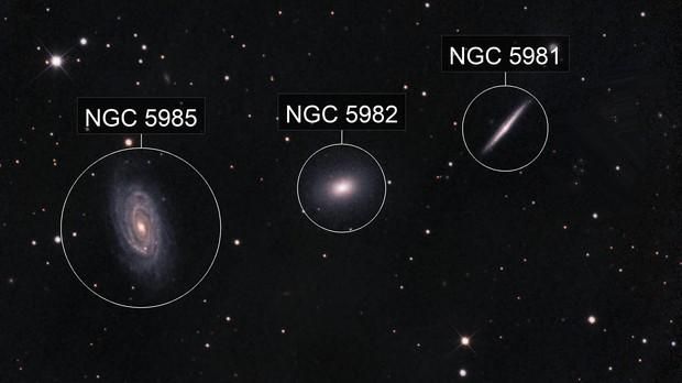 Draco Triplet - NGC 5985 / 5982 / 5981 - LRGB - EdgeHD 9.25 - ASI1600MM