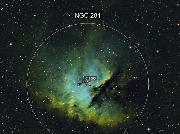 NGC 281 Pacman Nebula SHO Narrowband - Esprit 120 - ASI1600MM