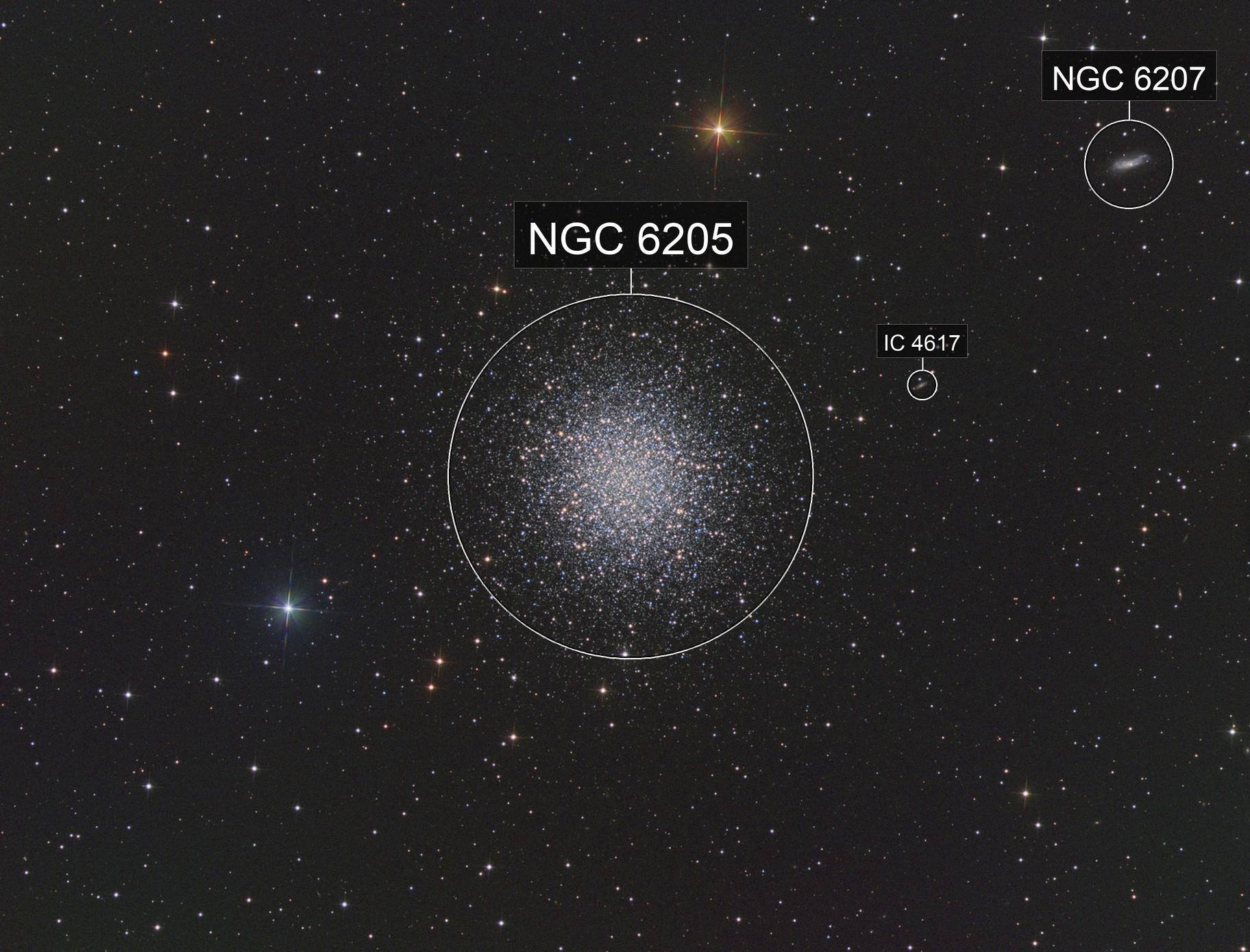 """M 13 - Great Globular Cluster in Hercules - ONTC 8"""" - ASI1600MM"""