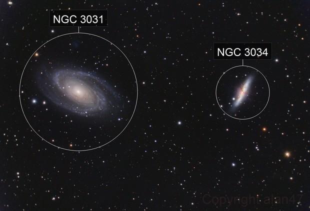 Messier 81 + Messier 82