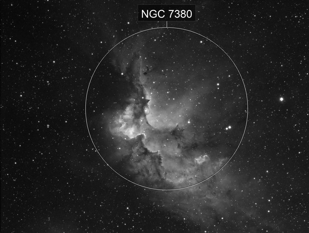 The Wizard Nebula NGC 7380 in H-alpha