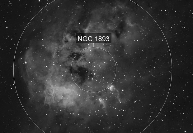 The Tadpoles IC410 in Hydrogen-alpha