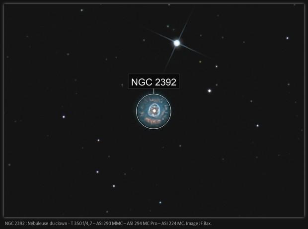 NGC 2392 - Nébuleuse du clown (version 2019)