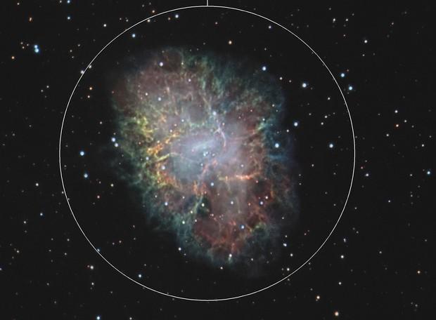 Crab nebula SHO + RVB