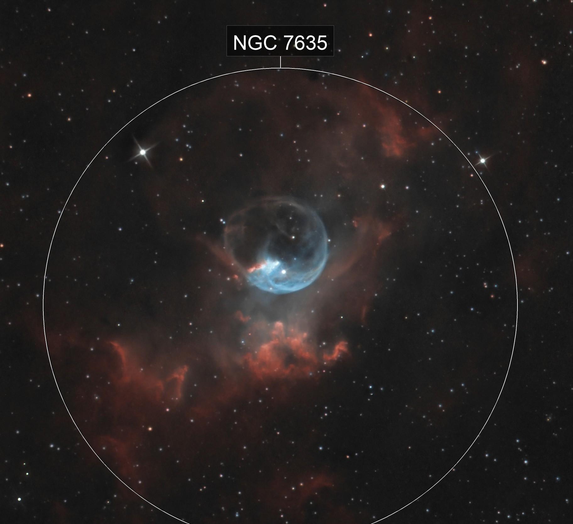 NGC 7635 - Nébuleuse de la bulle.