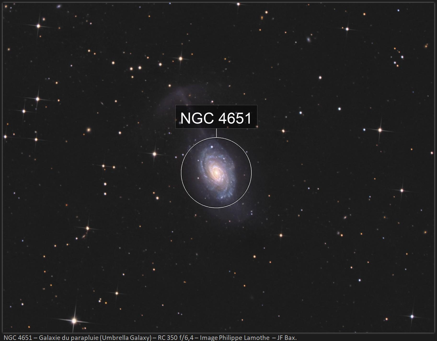 NGC 4651 (ARP 189) - Umbrella Galaxy with ASI 294 MC Pro.
