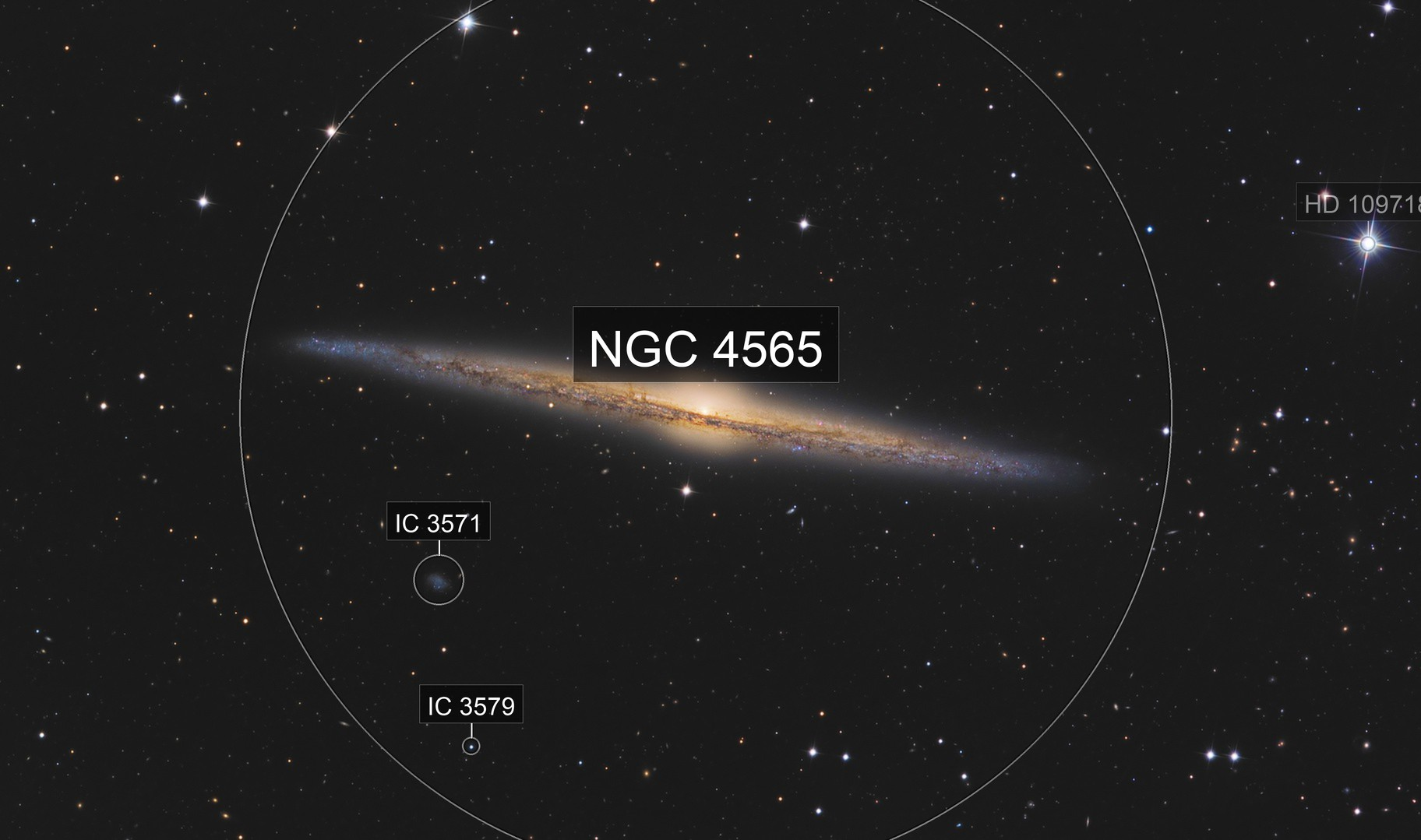 NGC 4565 - The spindle Galaxy with C2PU T1000