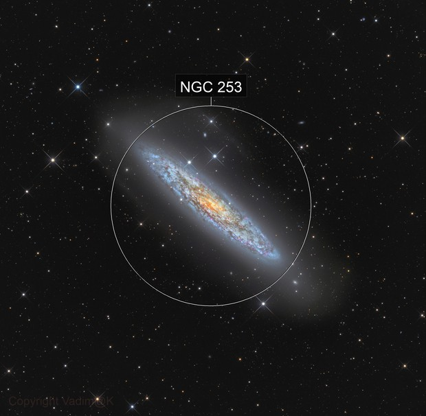 "ngc253 - ""Silver Coin"" and tidal stream"