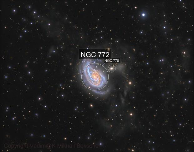 ngc772, Arp78 and tidal stars rivers