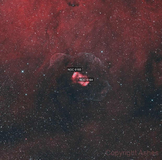 NGC 6164/6165 - Bipolar Nebula