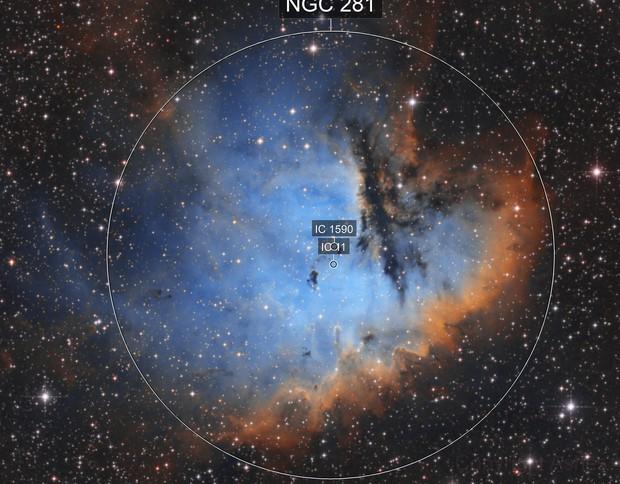 NGC 281 SHO - Pacman Nebula