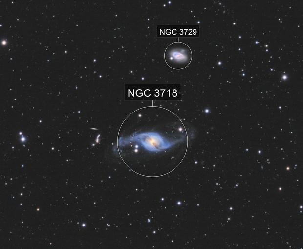 NGC 3718 & 3729 - LRGB