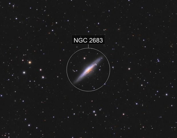 NGC 2683 UFO Galaxy - LRGB