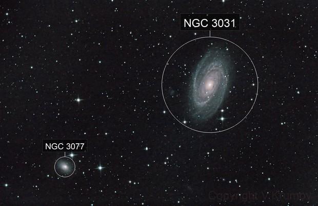 Bode Galaxy & NGC 3077