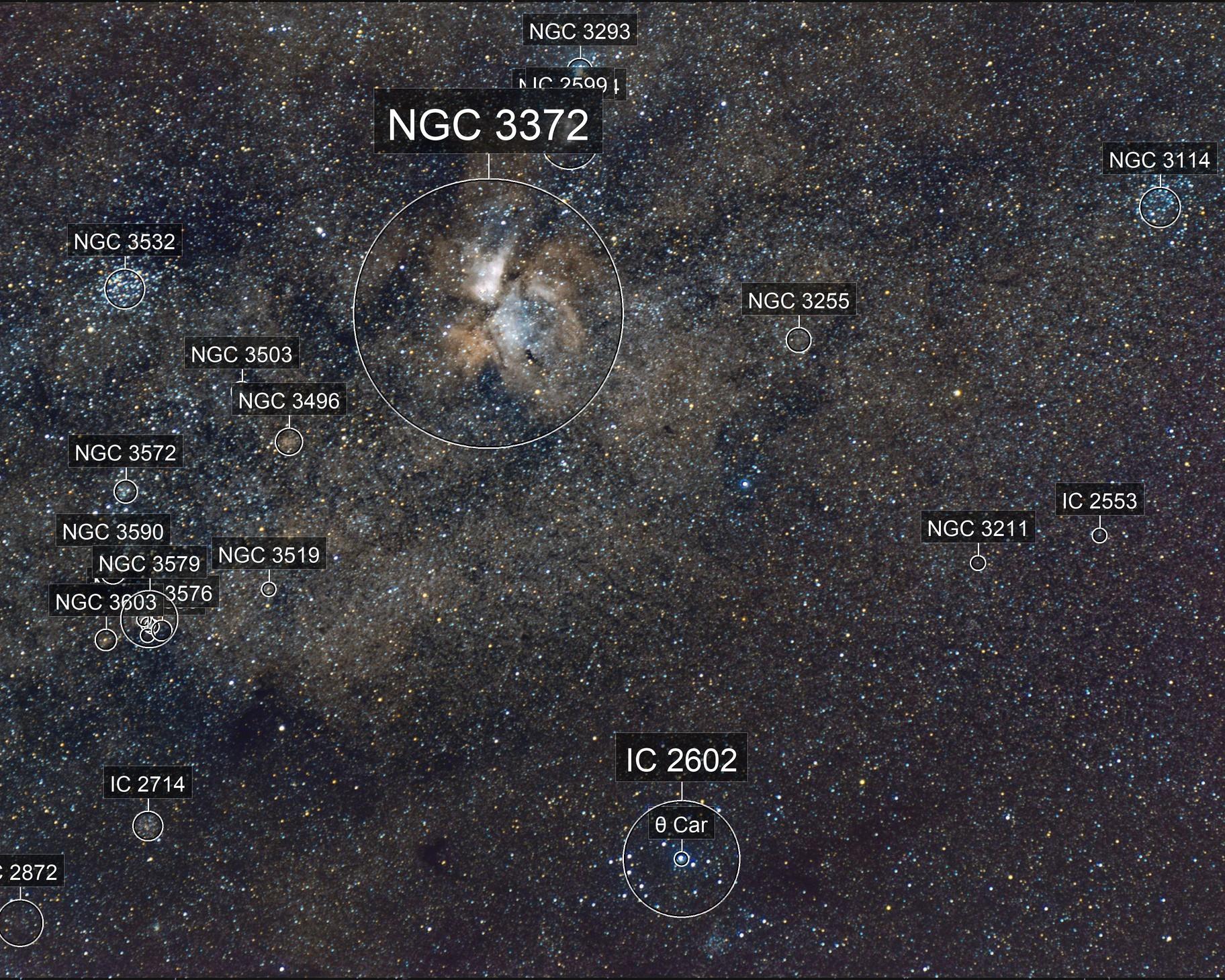 Widefield Carina Nebula