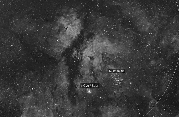 Gamma Cygni Nebula (IC1318) in H-alpha