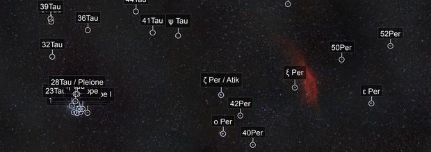 Pleiades to the California Nebula Mosaic