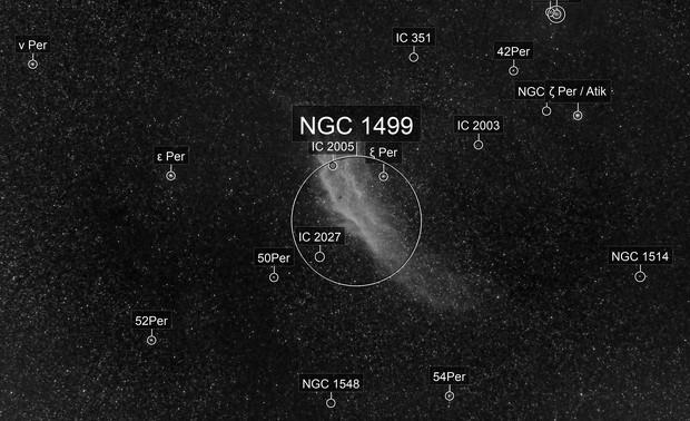 California Nebula at 85mm in Ha