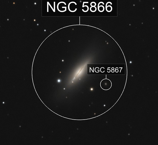 NGC 5866 Spindle Galaxy