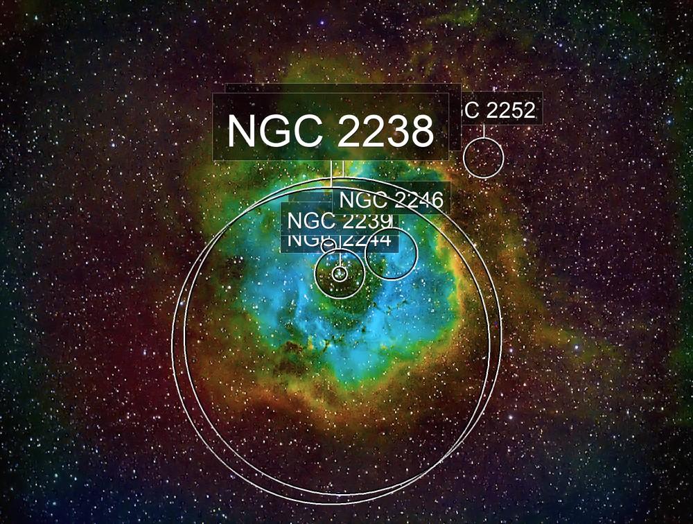 Rosette Nebula - SHO